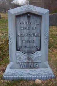 Anna C Wing Headstone