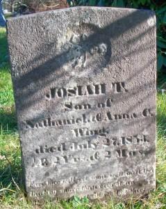 Josiah T Wing Headstone