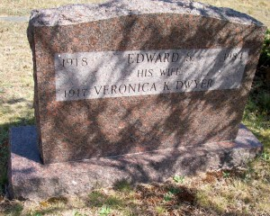 Edward S & Veronica K Dwyer Towne Headstone